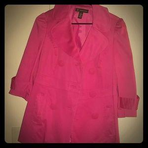 INC International Concepts Pink Overcoat